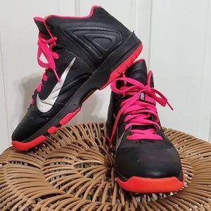 Nike pink & black high top sneakers